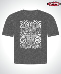 GH14110 Mens Spark Plug Tee Charcoal Heather