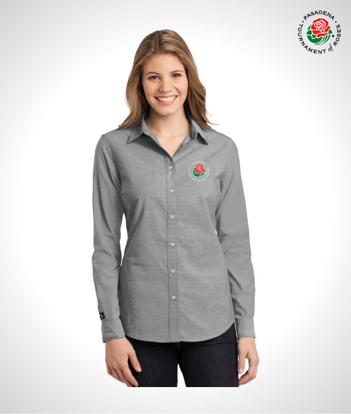 TOR16115-Ladies-LS-Button-Up-CHARCOAL-GRAY