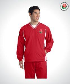 TOR16121-Mens-V-Neck-Wind-Shirt-RED