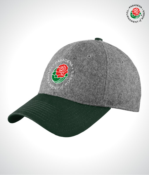 TOR1611-Wool-Heather-Cap-GRAY-GREEN-FRONT