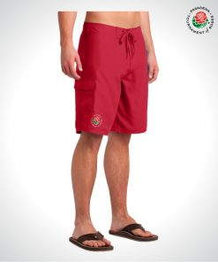 TOR1614-Mens-Board-Shorts-RED-3-4-VIEW